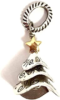 Brighton Tinsel Tree Charm, J95111, Silver and Gold Finish