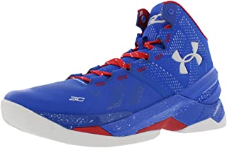 Curry 2 Basketball Men'S Shoes, Blue/Red/White, 12 M US