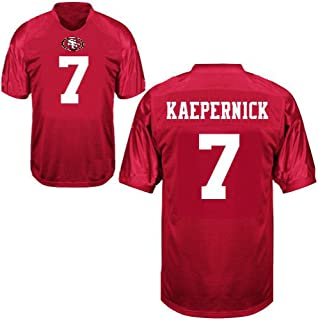 NFL by Outerstuff Boys Short Sleeve Player Performance Name and Number Tee K 1812B BH, Boys, 1812J J7, Crimson, Youth Large