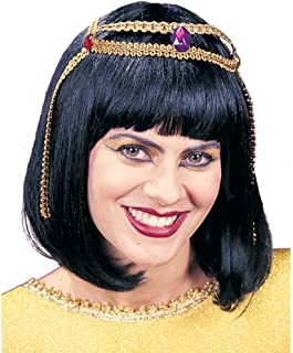 Fun World Women's Wig Cleopatra, Black, Standard