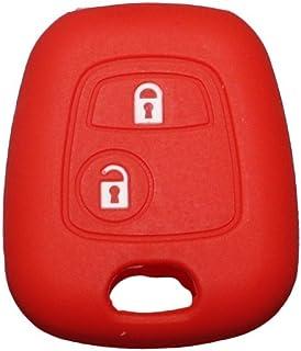 datex-bm Portachiavi Compatibile Citroen in Similpelle per Auto con Logo inciso sulla Parte in Metallo,Classico Elegante,Nero per Tutti i Modelli,Uomo Donna