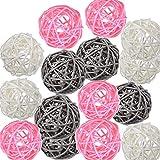 Pemalin Decorative Wicker Rattan Balls 15pcs-Ins Style Color Decor for Vase Filler Wedding...