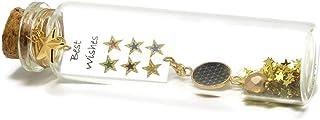 Bottiglia di vetro messaggio I migliori auguri decorazione stelle resina multicolore perla oro festa della mamma regali na...