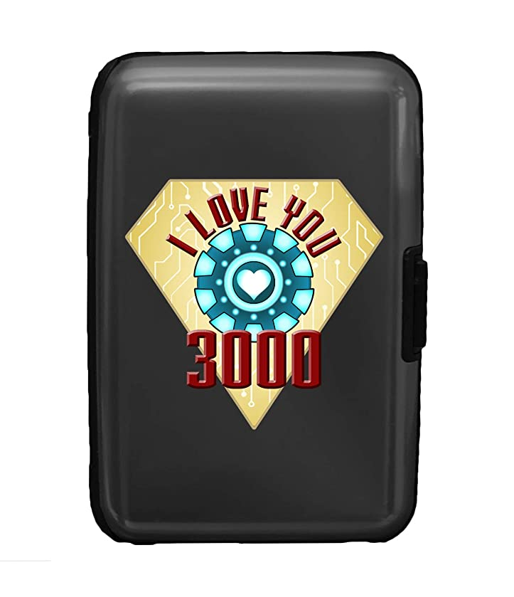 I Love You 3000 Metal Heart Reactor Film Parody - 3D Color Printed Gunmetal Aluminum Hard Credit Card Wallet