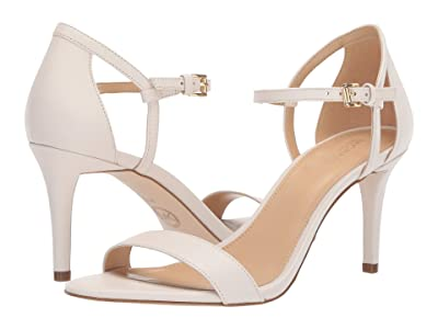 MICHAEL Michael Kors Simone Mid Sandal (Light Cream Nappa) Women