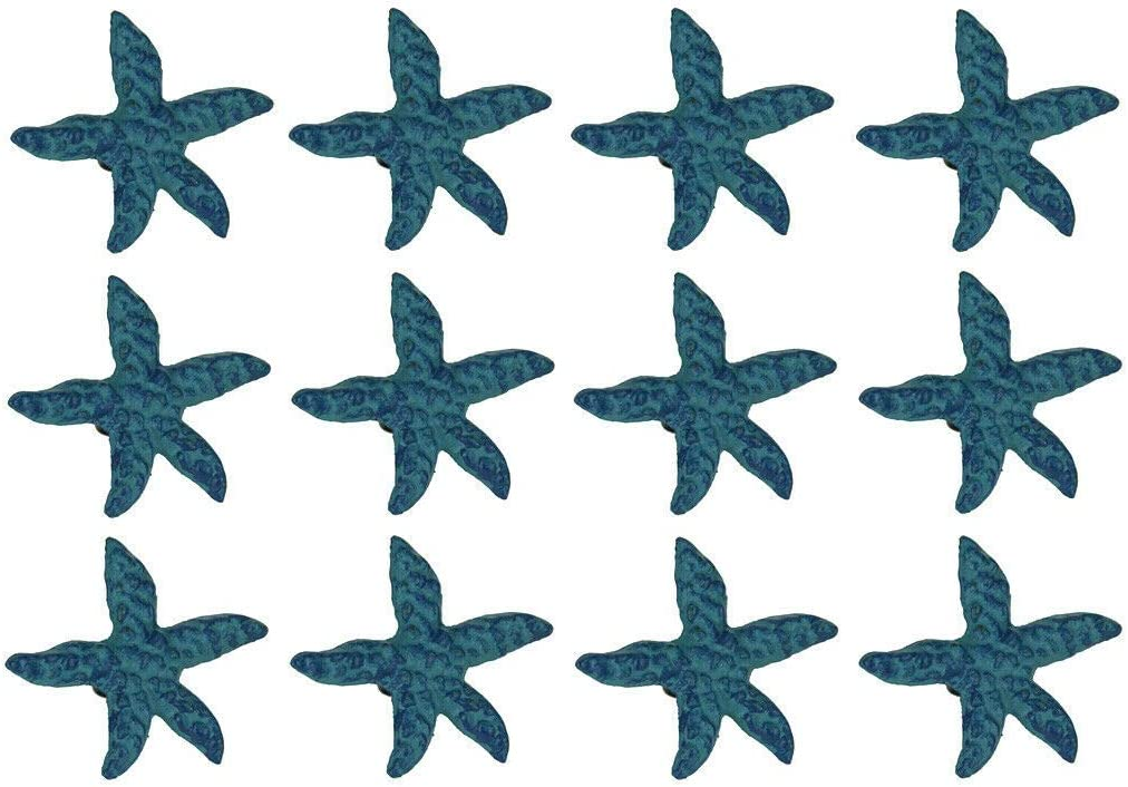 Blue Cast low-pricing Iron Starfish Drawer Pull Direct store Favorite Set Decor of St 12-