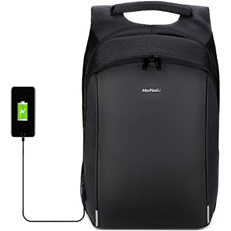 External USB Charge Laptop Backpack Anti-Theft Notebook Computer Bag 15.6 Inch For Business Men Women Black 15 Inches