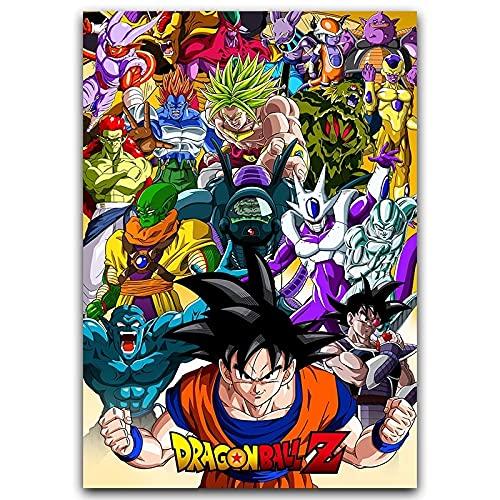 Bnnauv Puzzle 1000 Piezas Z Goku Classic Anime Art Imagen de Anime japonés Puzzle 1000 Piezas Animales Rompecabezas de Juguete de descompresión intelectual50x75cm(20x30inch)