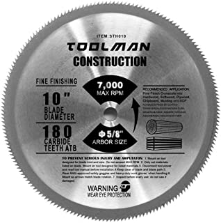 Lion Tools STH010 Toolman Premium Multifunctional Carbide-Tipped Circular Saw Blade Universal Fit 10