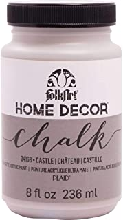 FolkArt Home Decor Chalk Furniture & Craft Paint in Assorted Colors, 8 ounce, Castle