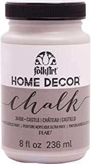 FolkArt 34168 Home Decor Chalk Furniture & Craft Paint in Assorted Colors, 8 ounce, Castle