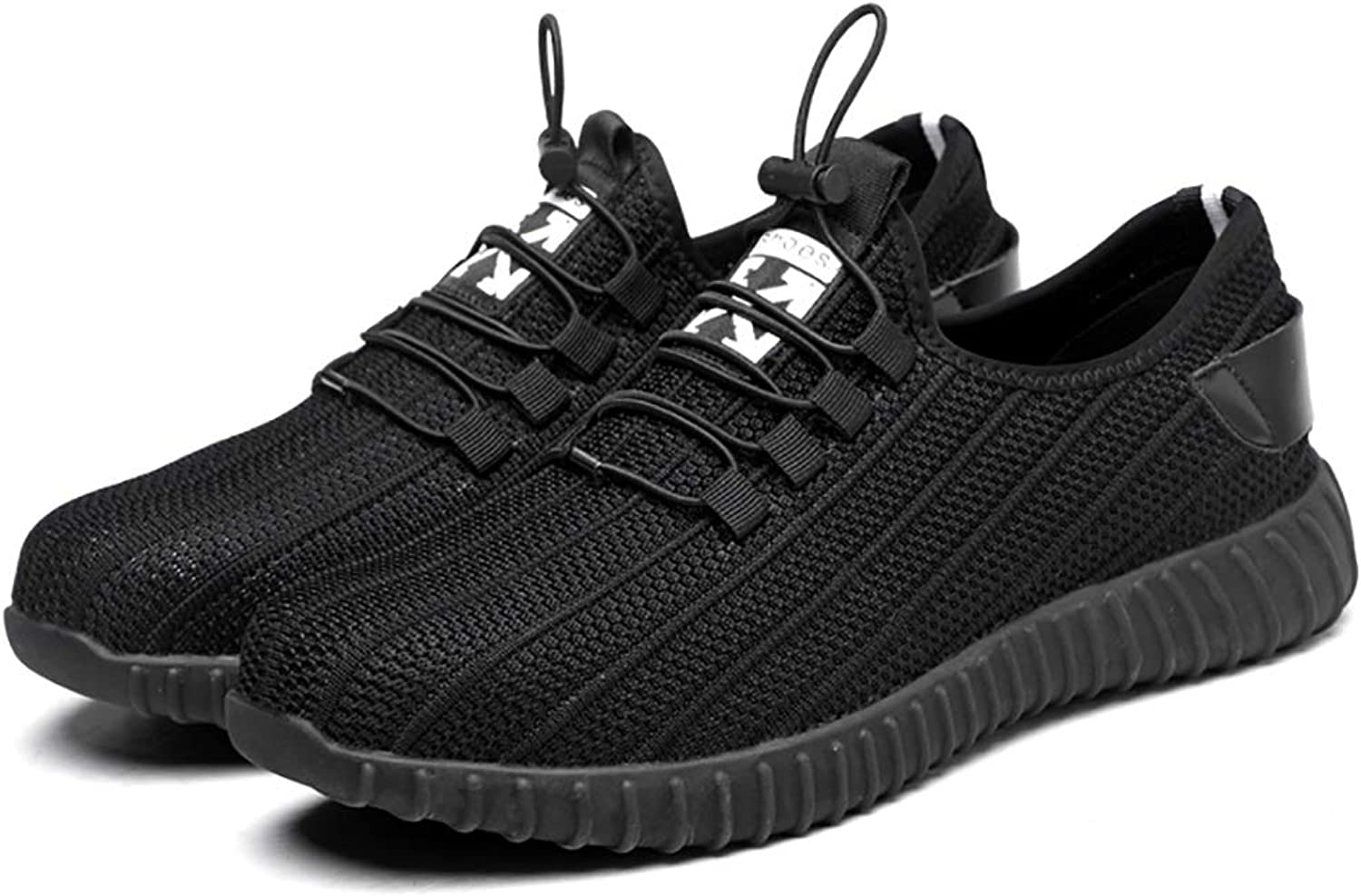ZYFXZ Work shoes Work shoes work shoes light and comfortable men's casual shoes outdoor non-slip shoes anti-mite puncture rubber soles predective shoes flying woven shoes breathable wear safety shoes