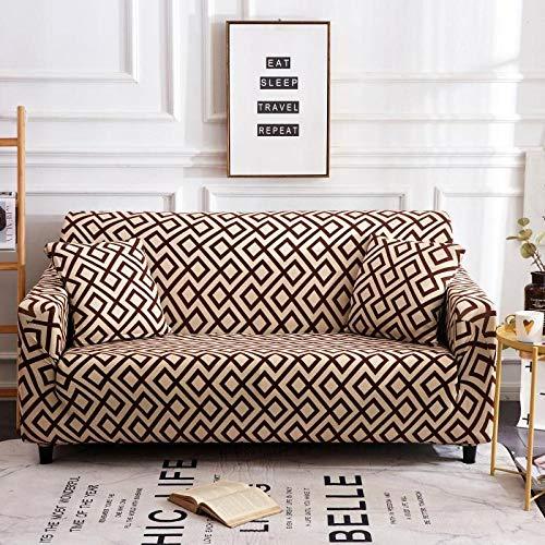 Funda de sofá Antideslizante,Funda de sofá con patrón impreso, funda de sofá elástica antideslizante, cojín de sofá universal para todas las estaciones, funda protectora de muebles de sala de estar-C
