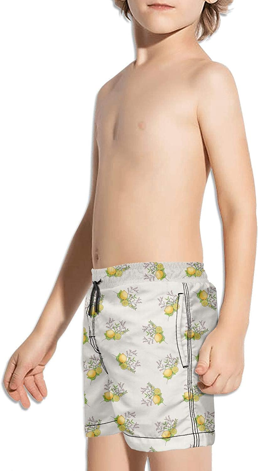 Boys Quick Dry Beach Board Shorts Life Behind Bars Kids Swim Trunks with Mesh Lining
