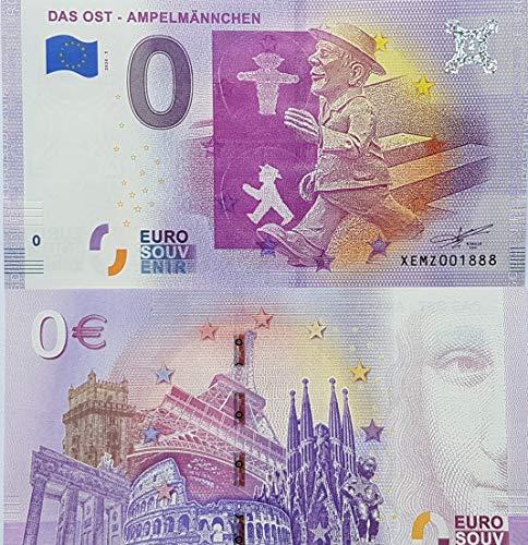 0-Euro-Schein Ost Ampelmännchen Deutschland Souvenir Null Euro € Sammler