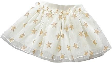 Elaco Kids Girl Star Glitter Dance Tutu Skirt Tulle Tutu Toddler Girl Chiffon Dress