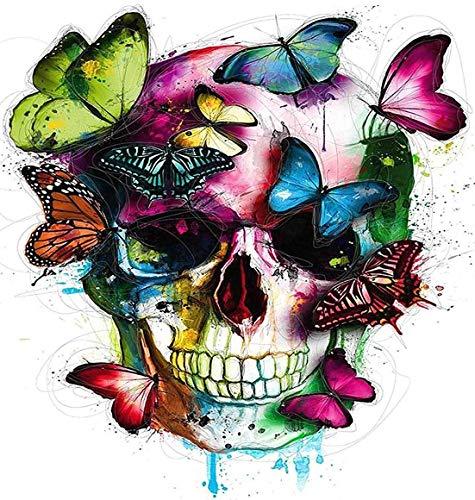 WZZPSD Puzzel Für Erwachsene Jigsaw Puzzle 1000 Stück Farbe Schmetterling Und Totenkopf Farbe Schmetterling Und Totenkopf Puzzle En Bois De Bricolage Un Cadeau Unique