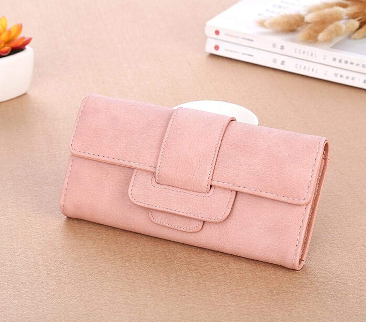 Girls Purse Women's Wallet,Ladies Purse Vintage Lychee Pattern Ladies Long Wallet Large Capacity 19  9.5  3cm (color   C)