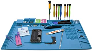 MMOBIEL Siliconen Reparatie Mat Hittebestendig tot 500 Graden & Magnetisch (blauw) - voor Reparaties