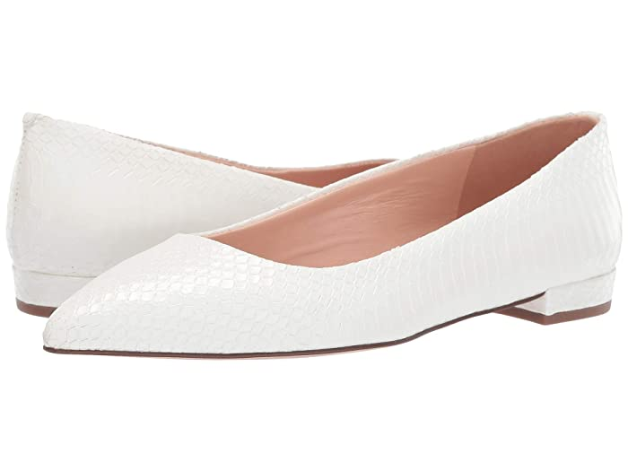 Vintage Wedding Shoes, Flats, Boots, Heels J.Crew Pointy Toe Flat in Python White Womens Shoes $117.99 AT vintagedancer.com