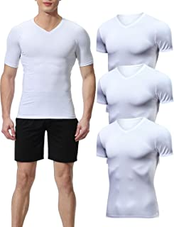 Lavento Men's Compression Shirts Cool Dry Short-Sleeve Workout Undershirts