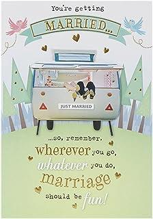 Hallmark - Tarjeta de felicitación de boda (tamaño mediano, 3D, mensaje humorístico)
