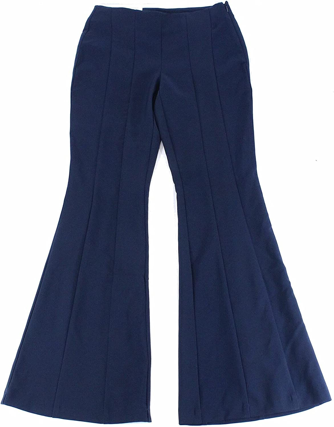 I.N.C. International Concepts INC Womens Navy Flare Wear to Work Pants Size 14