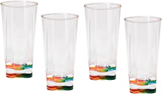 Set of 4 Merritt Rainbow Crystal - 16 oz tumbler