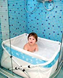 Bañera de bebé plegable Bibabad - Bañera antideslizante, portátil - Adecuado para...