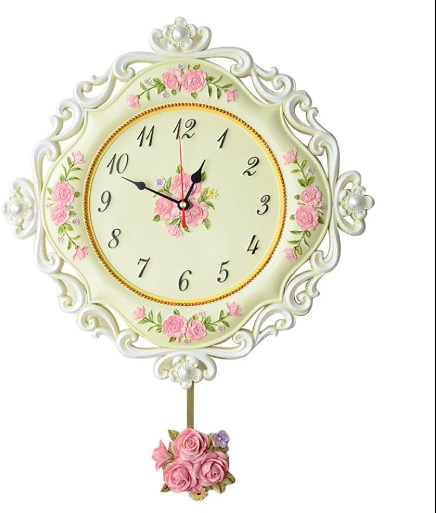 Sale Special Price XIAOQIU Wall Clock European Pastoral Resin Creativity Sale item