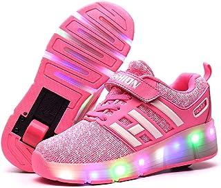 Letao Led Luces Zapatos con Ruedas para Pequeños Niños y