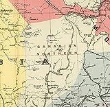 MG global Canadá 1852 Atlas Mapas, color físico laminado mapa de Canadá, mapas vintage de Canadá para el hogar y la oficina, decoración de la pared