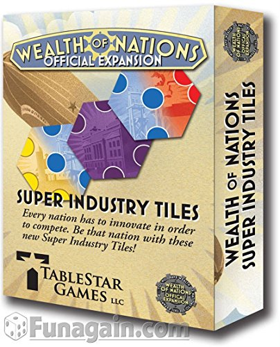 Tablestar Games 412 - Wealth of Nations: Super Industry Tiles