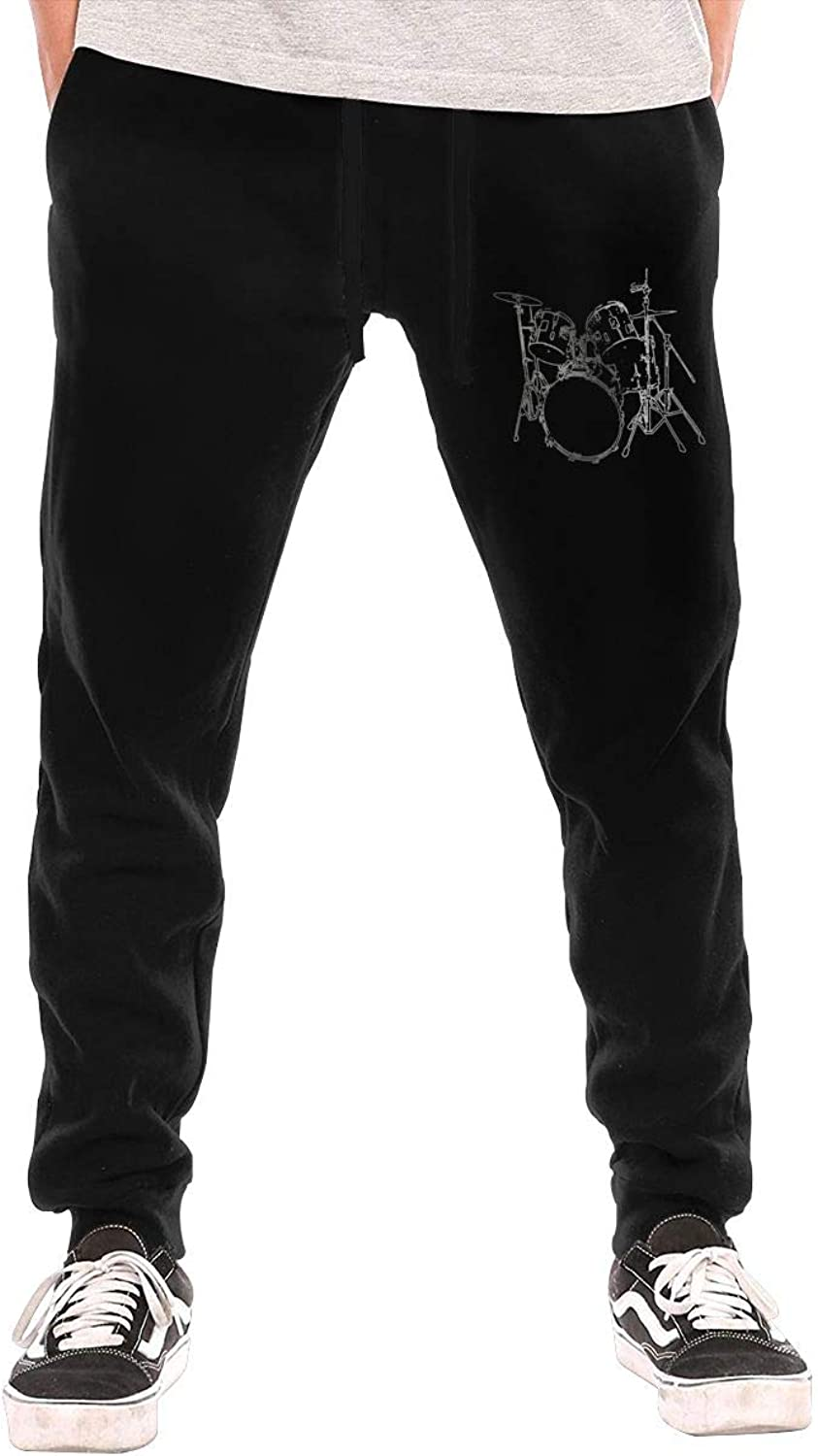 NIOPC MIJFOP Men's Drums Sport Joggers Workout Sweat Pants