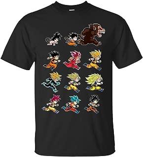 Funny Goku & Vegeta Tshirt-Goku Evolution Time Dragon Ball Super Saiyan T-Shirt