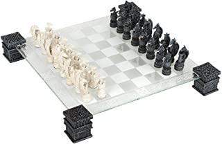 Dragon Fantasy Glass Chess Set