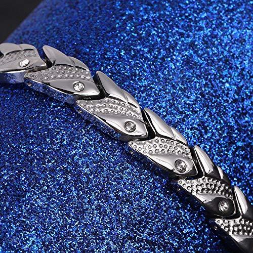 Pulsera Decorativa De Diamantes De Imitación, Diseño De Imanes, Pulsera Moda, Unisex, No Alérgica para Hombres, Uso Médico, Regalo para Mujeres