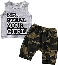 Bebogo Toddler Boys Colorful Camo Shorts Kids Little Boys Summer Drawstring Camouflage Knee Length Shorts Casual Short Pants