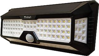 Miraitechソーラーライト 【136LED高輝度 四面発光】センサーライト 屋外 人感センサー 明暗センサー ガーデンライト 壁掛け照明 ledライト 電池交換不要 照明/防犯/玄関/壁掛け/ガーデン 停電緊急対策 防災ライト(1個)