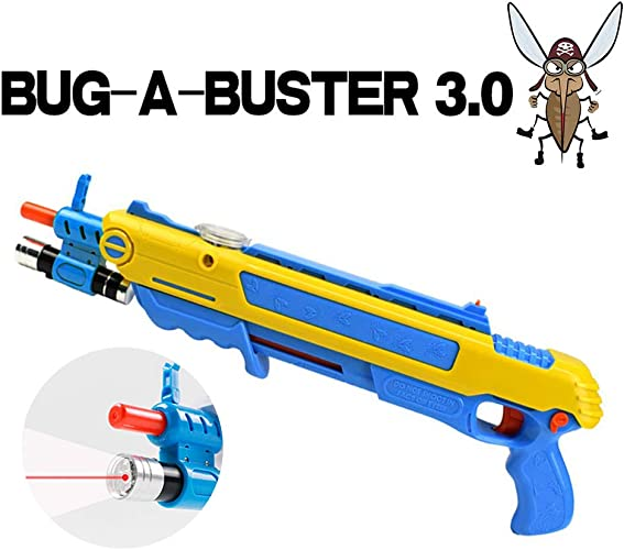 Fly Gun Lutte Mouches Shot Gun Salt Lutte Moucherolle Salt 3.0 Artefact Pneumatique Adulte Mosquito Fly Killer Garçon Enfant Jouet Gun Blaster Airsoft pour Bug BFaible(avec Laser Infrarouge)