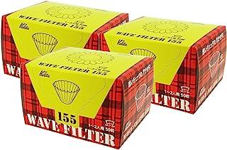 カリタ コーヒーフィルター ウェーブシリーズ 1~2人用 50枚入り×3個セット ホワイト KWF-155#22211
