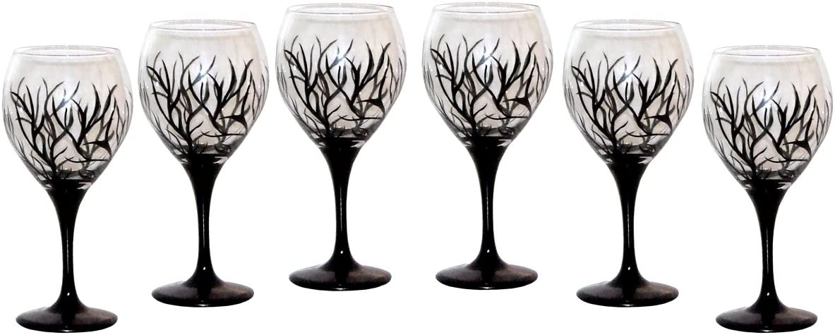 ArtisanStreet's Abstract Winter Design Glasses. Wine Balloon Manufacturer direct delivery Set Spring new work