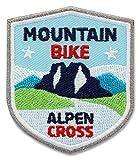 2 x MTB Alpencross Abzeichen 51 x 60 mm gestickt /...