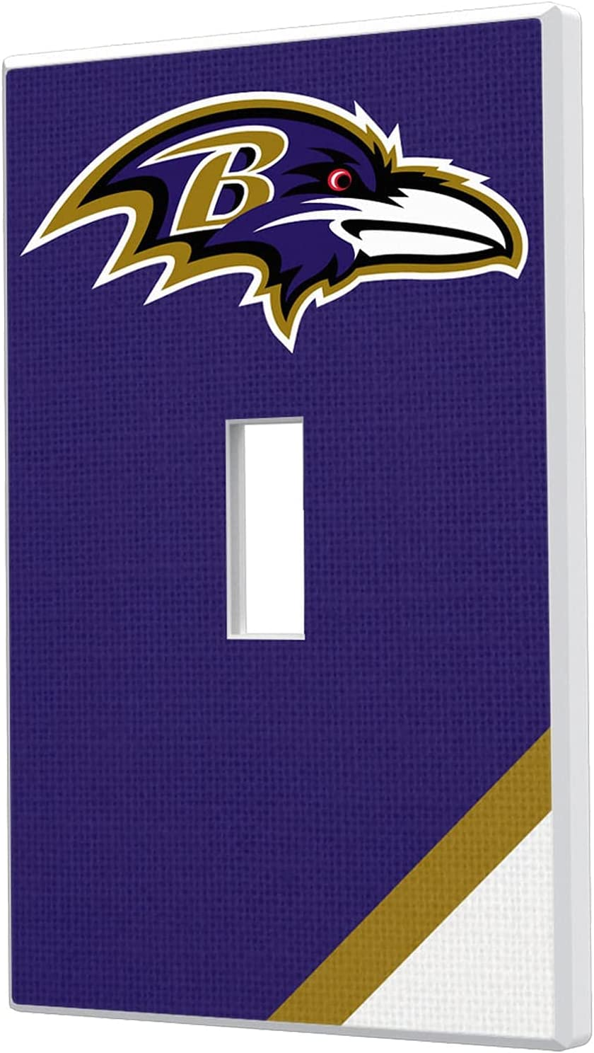 Baltimore Rare Ravens Diagonal Stripe Single Plat Switch Light Toggle Ranking TOP13