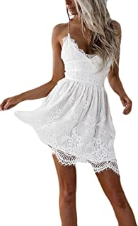 buy popular 9a5dc bcea1 Amazon.it: Vestiti In Pizzo Bianco - Vestiti / Donna ...