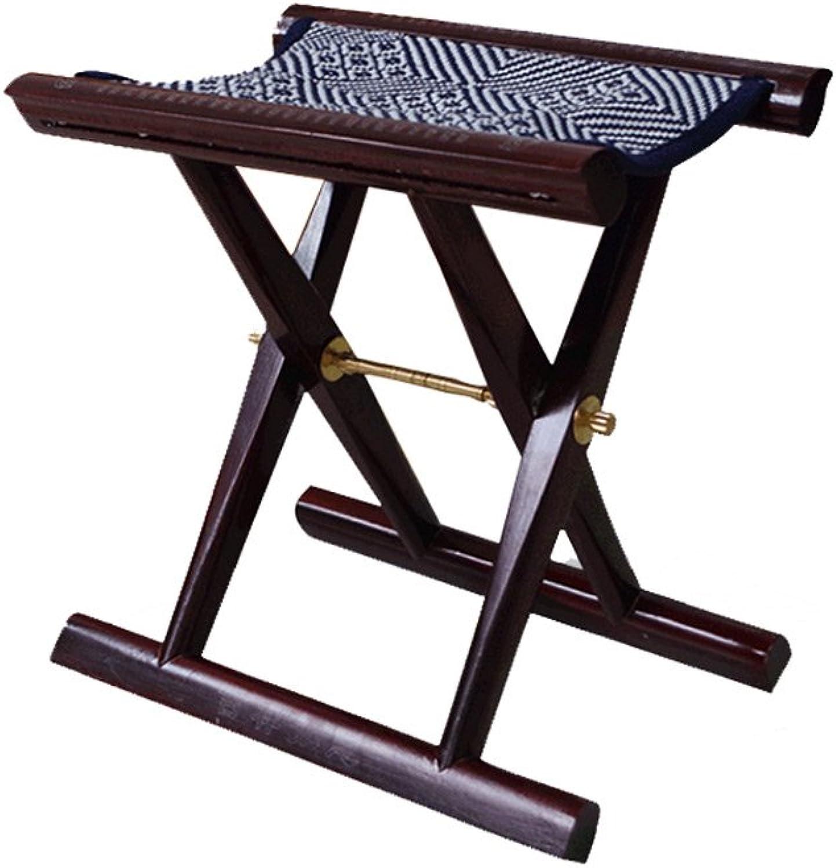 Folding Stool, Mahogany Horse Bar, Fine Craft Folding Small Stool, Leisure Outdoor Cool Stool, Fishing Stool