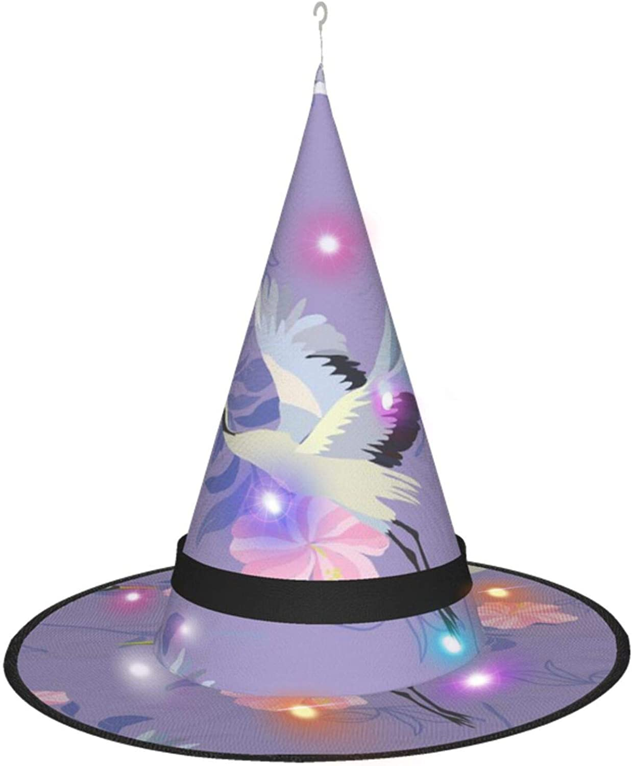 Crane Pink Flowers Halloween Ranking TOP16 Witch Par for Max 78% OFF Accessory Costume Hat
