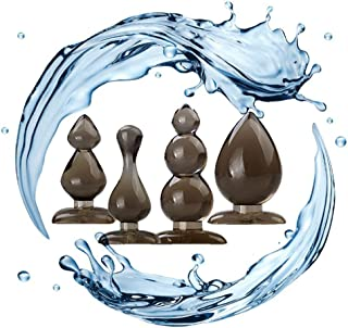 Alloeo141-3 Pcs/Set Stainless Steel Gemstone Design - Jeweled Būtt- Plùgs Massage for Men and Women Back Massage Trainer (Pink)