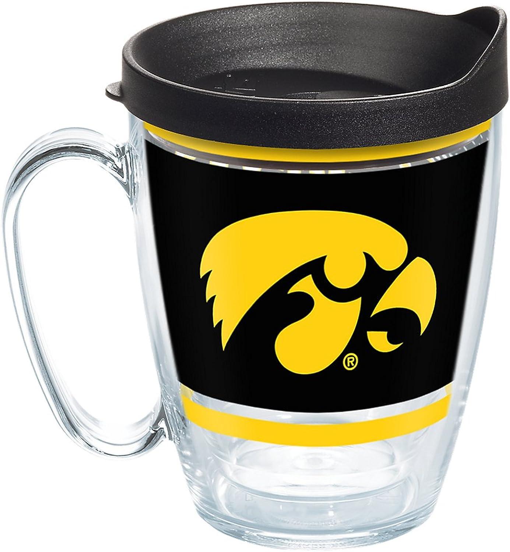 Tervis 1257519 NCAA Iowa Hawkeyes Legend Coffee Mug with Lid 16 oz Clear