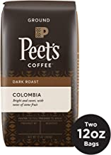 Peet's Coffee Colombia Dark Roast Ground Coffee, 12 Ounce Bag (Pack of 2) Single Origin Coffee